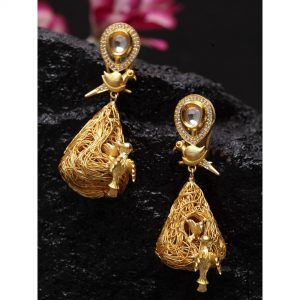 Dugristyle Gold-Plated Golden Earring, earrings, earring, jewellery