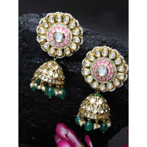 Dugristyle Pinky Jhumki, earrings, earring, jewellery
