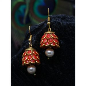 Dugristyle Coral Handcrafted Jhumki Earring, Earrings