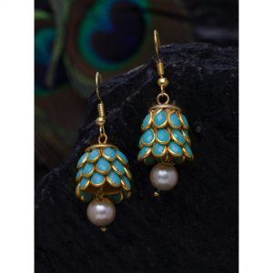 Dugristyle Firoza Handcrafted Jhumki Earring, Earrings