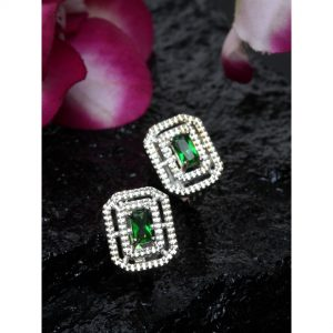Dugristyle Emerald Square Earring, earrings, earring, jewellery