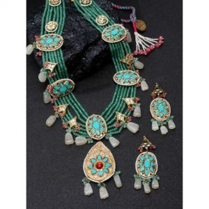 Dugristyle Begam Ka Haar Necklace Set, Necklace Set, Earrings