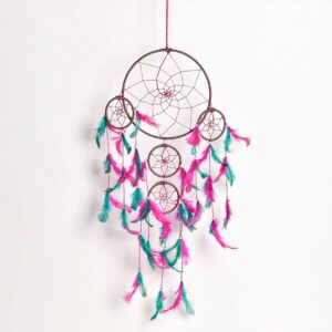 Pink and Green Dreamcatcher