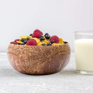coconut bowls, coconut bowls online, natural bowls online, natural bowls, eco friendly bowls, smoothie bowls, coconutshell products online, dinner set, bowls with spoon and fork, fork spoon, Coconut Bowl