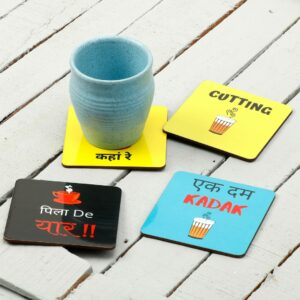 tea coaster, coaster set, home decor