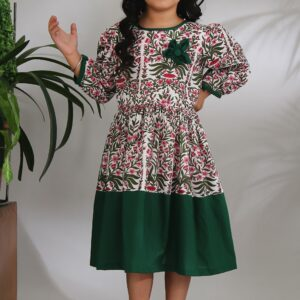 The Cotton Staple Mughal Phool Dress