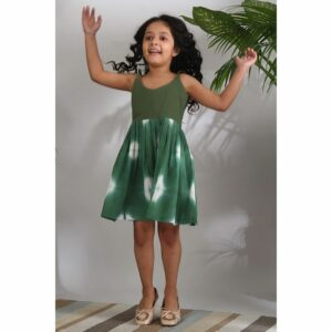 The Cotton Staple Sage Shibori Dress