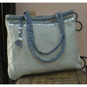 Kritenya Linen Cotton Big Tote Bag - Natural