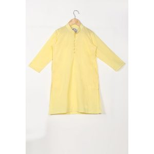 The Cotton Staple Yellow Kurta Set