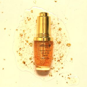 Natural Vibes Gold Beauty Oil - Elixir For Face Lips Neck and Peaceful Sleep - 3 ml