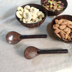 eco friendly cutlery, coconut shell spoons
