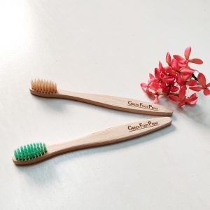 Natural Bamboo Kids Toothbrush - Pack of 2
