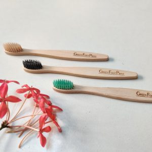 Natural Bamboo Kids Toothbrush - Pack of 3