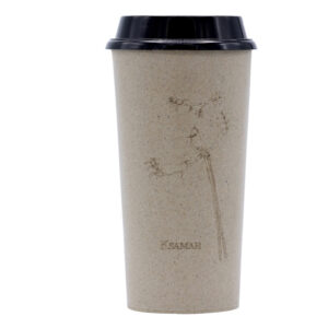 KSAMAH Eco-Friendly Rice Husk Coffee Cup - Paradise Flycatcher