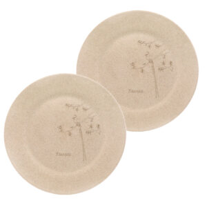 KSAMAH Eco-Friendly Rice Husk Plates 10inch - Set of 2